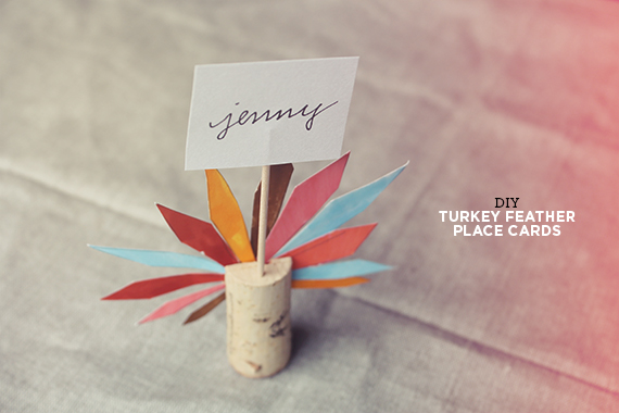 Diy Turkey Feather Place Cards Almost Makes Perfect