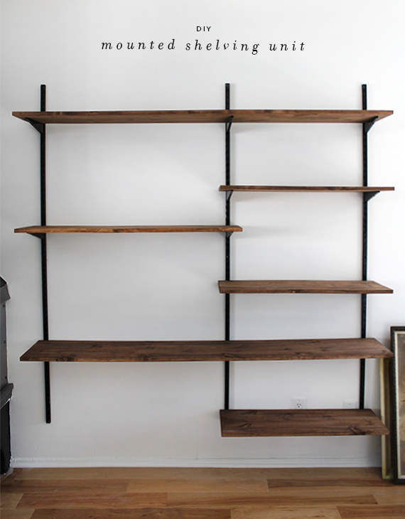 mounted shelving