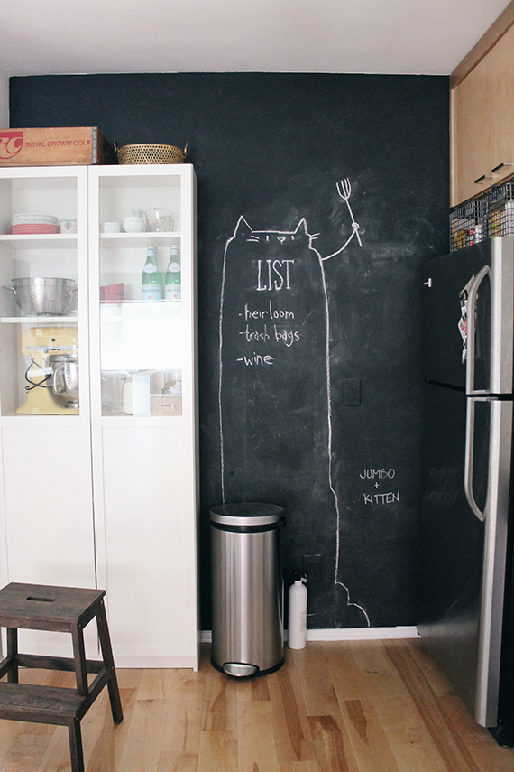 chalkboard kitchen wall almost makes perfect
