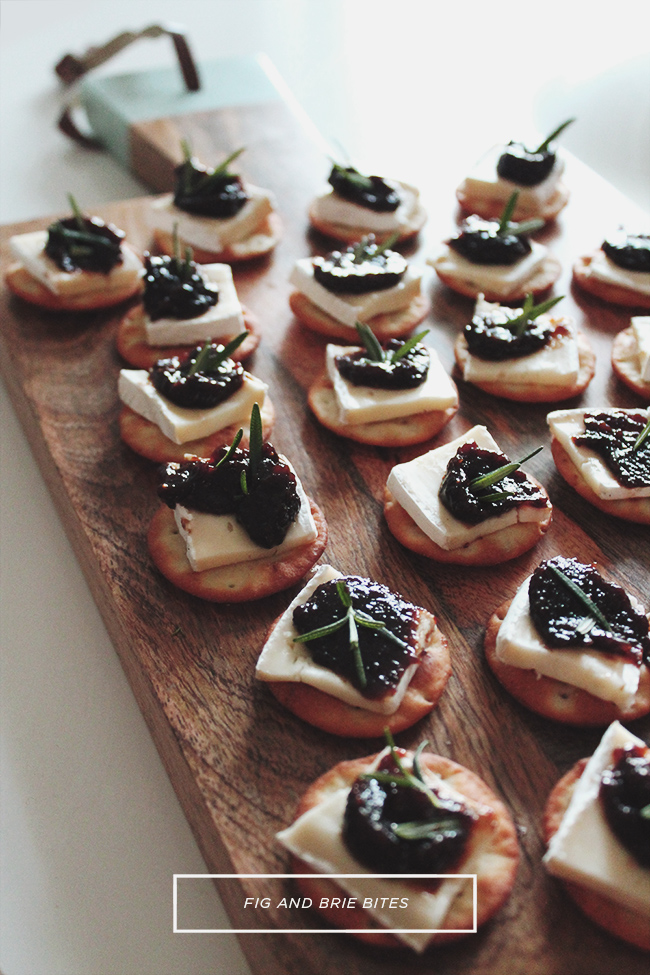 fig and brie bites