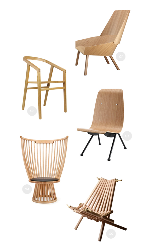 wood chair roundup | via almost makes perfect