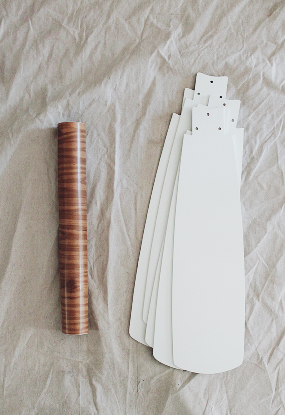 contact papered ceiling fan blades