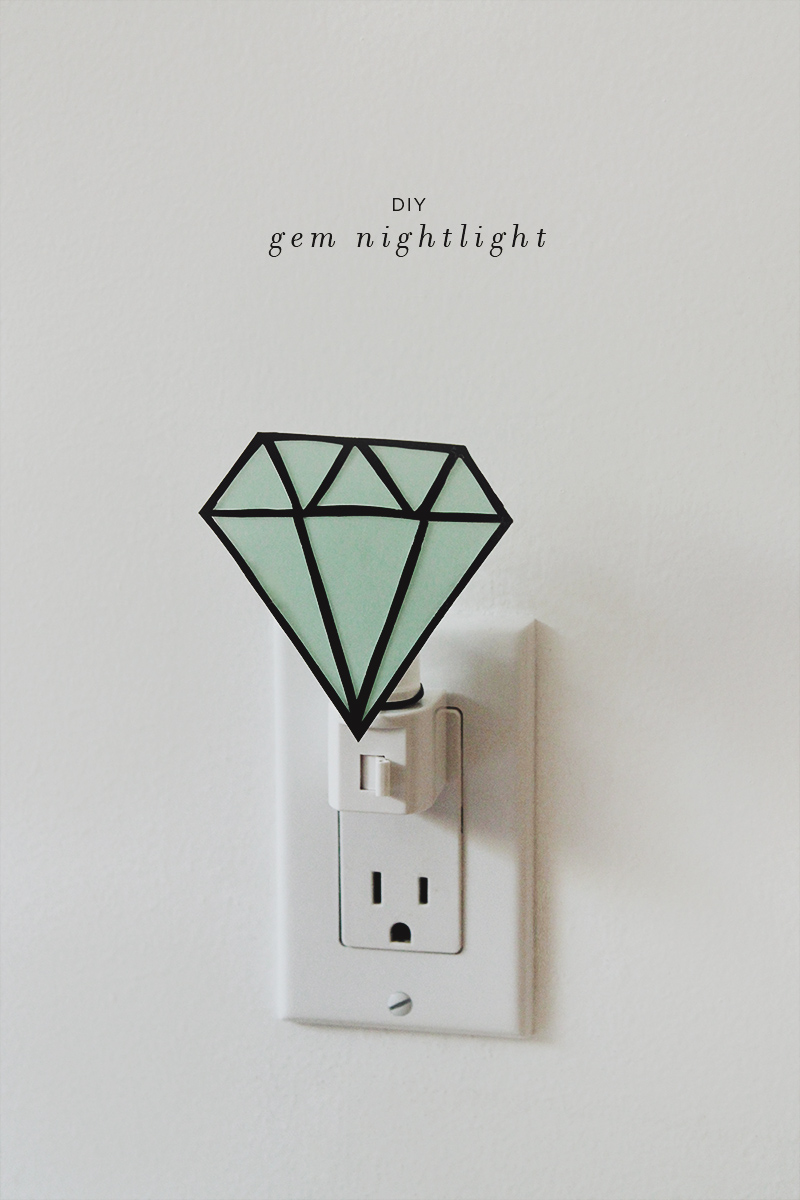 diy gem nightlight