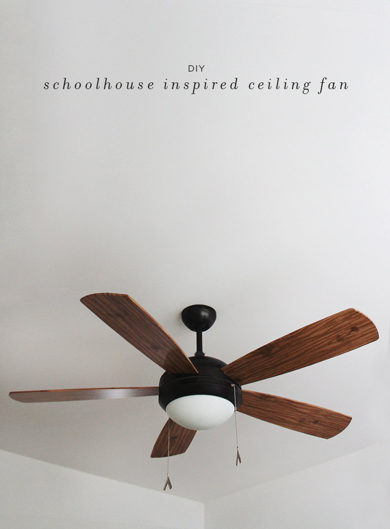 diy schoolhouse inspired ceiling fan