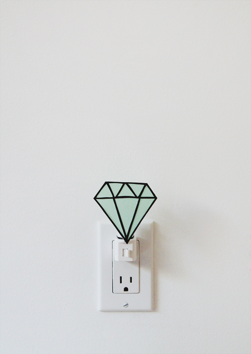 gem nightlight diy