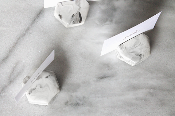 diy marble place card holders