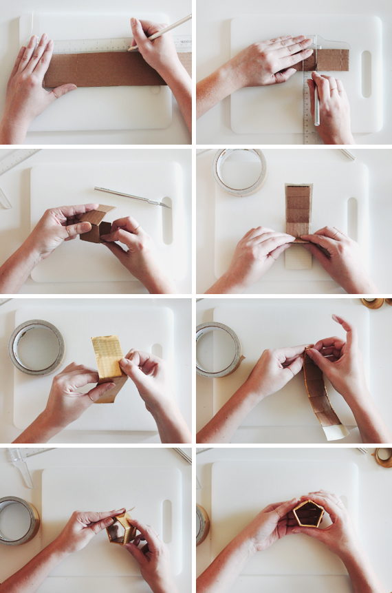 geo napkin rings diy