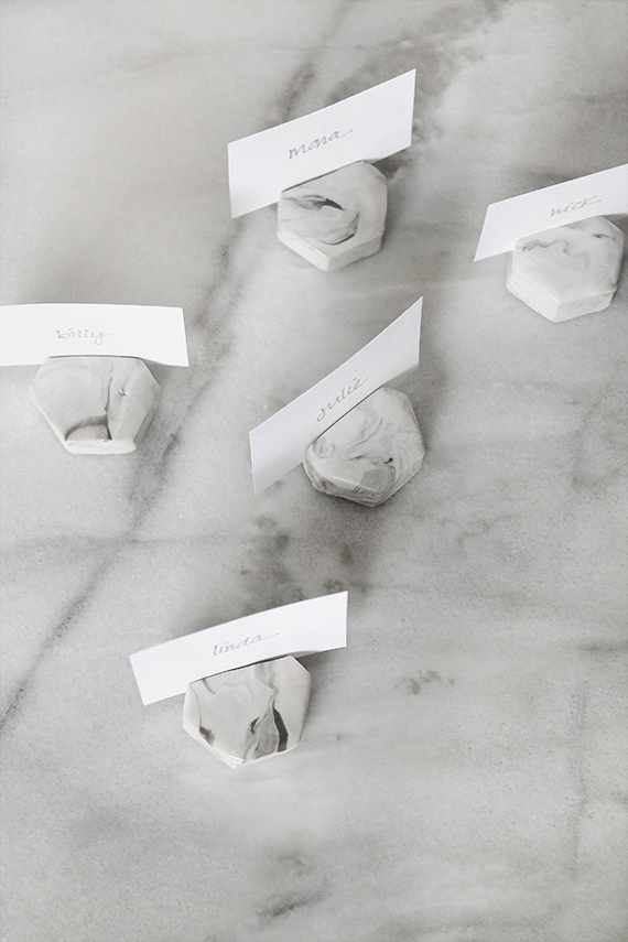 marble place card holder diy