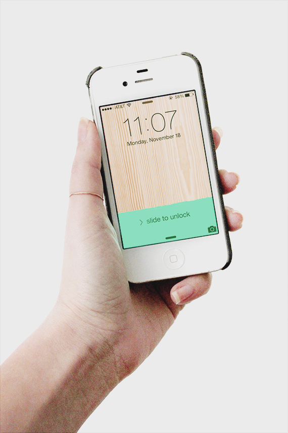 free neon + wood iphone wallpaper by almost makes perfect