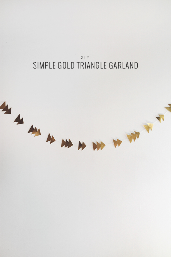 diy gold triangle garland