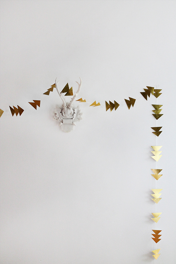 diy triangle garland