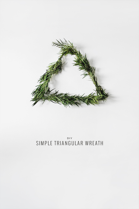 diy triangular wreath by almost makes perfect