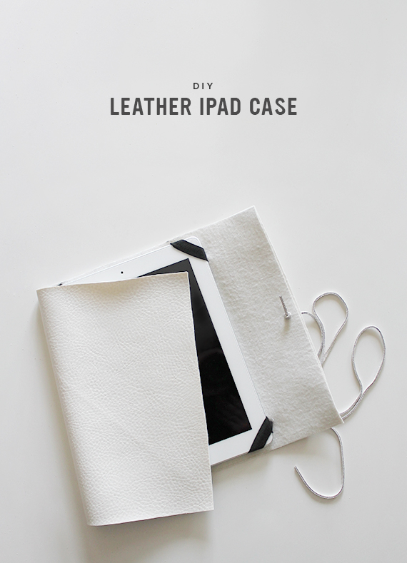 diy leather ipad case // almost makes perfect