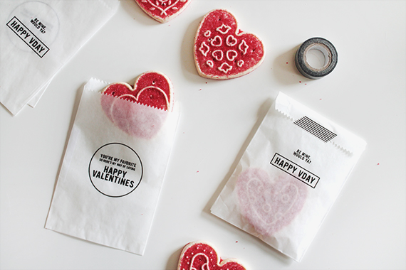 diy valentines treat bags