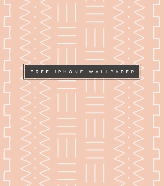 free mudcloth iphone wallpaper // almost makes perfect