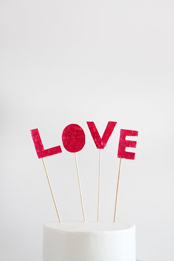 diy LOVE cake topper