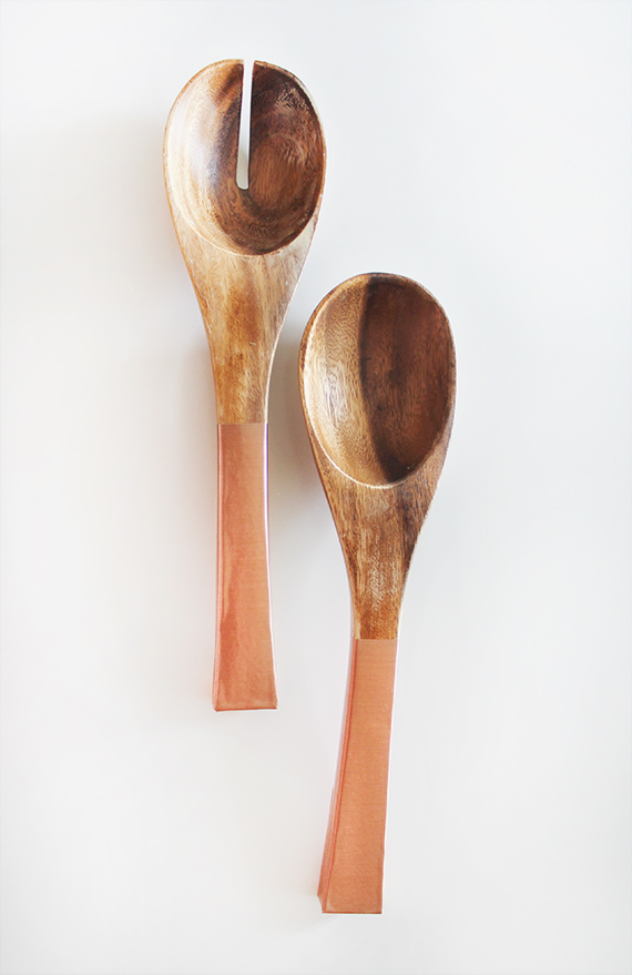 diy copper salad servers