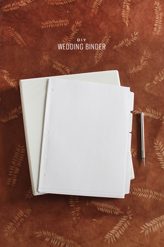 diy wedding binder