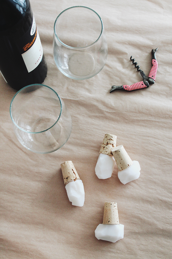 diy faux gem wine stoppers |  almost makes perfect