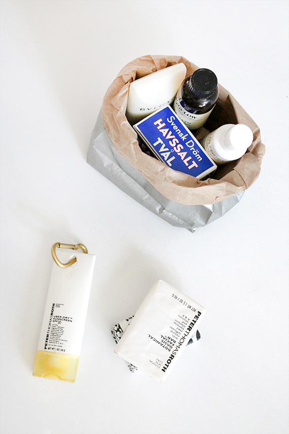 diy metallic sack | almost makes perfect