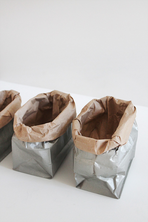 diy metallic sacks | almost makes perfect