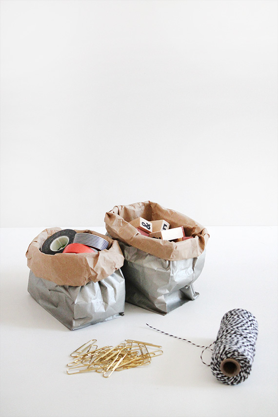 diy metallic storage sacks