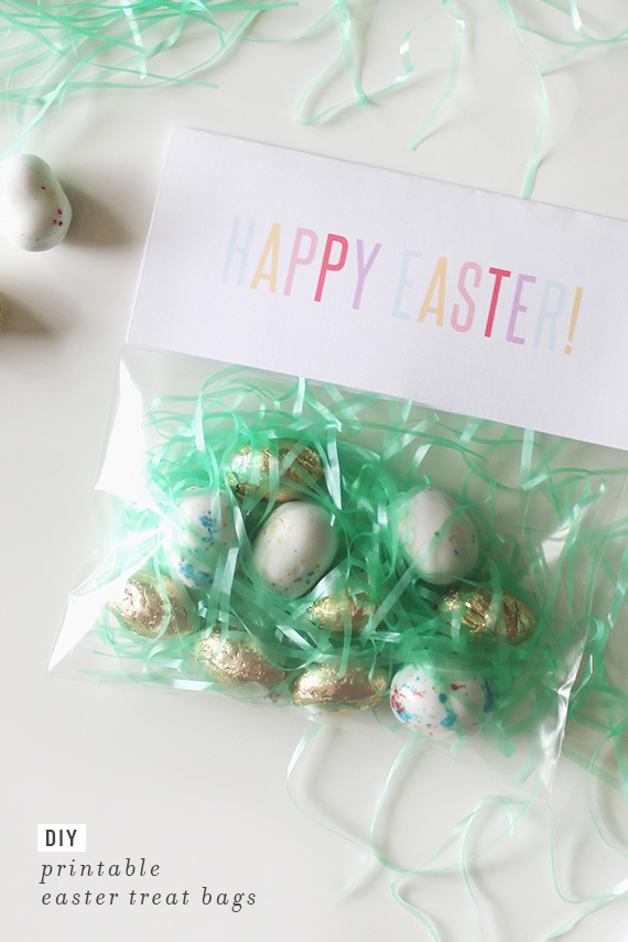 diy printable easter treat bags | almost makes perfect