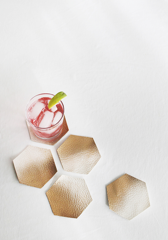 diy ombre leather coasters | almost makes perfect