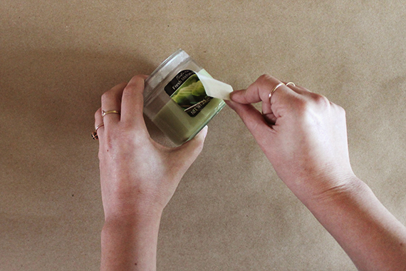 drugstore candle makeover