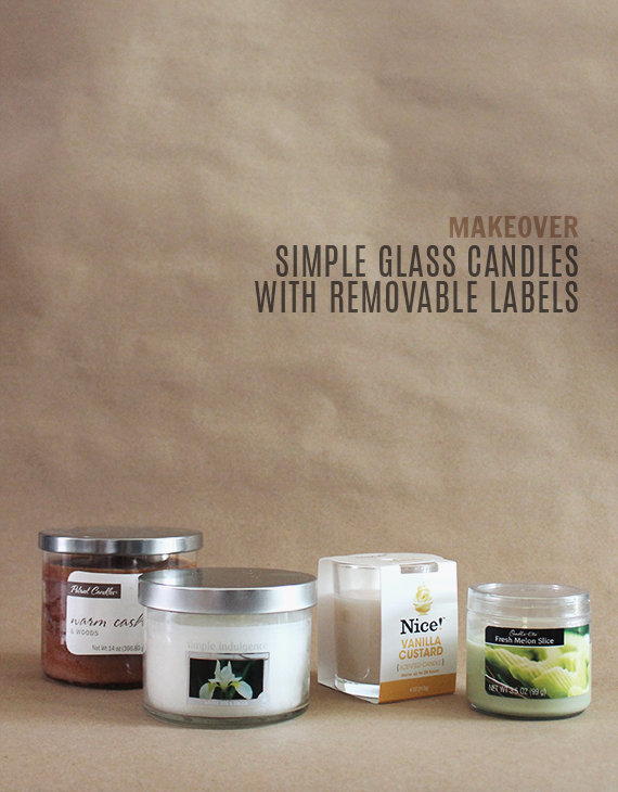how to makeover drugstore candles