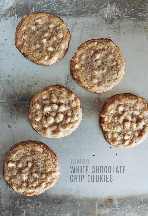 jumbo white chocolate chip cookies | almost makes perfect