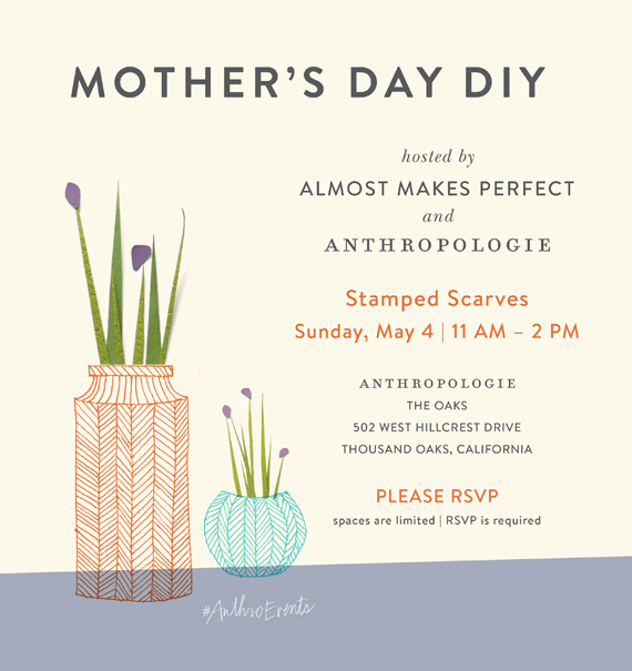 mothers day diy event at anthropologie