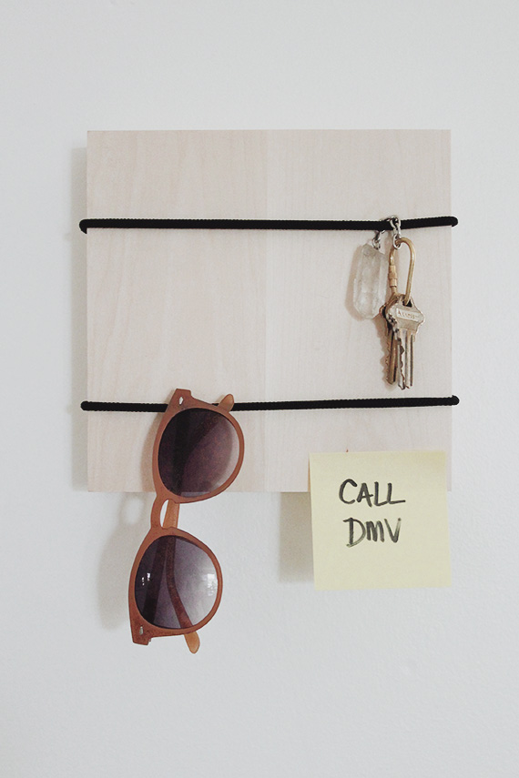 5 minute diy | entryway organizer