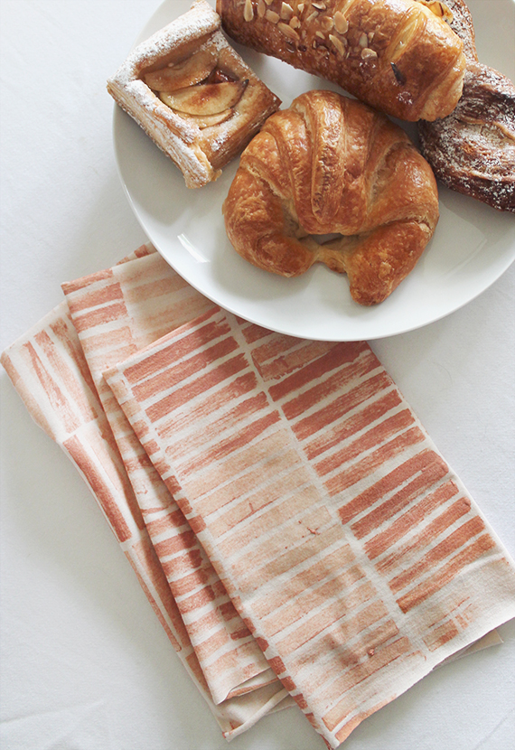 diy stamped napkins   |   almost makes perfect