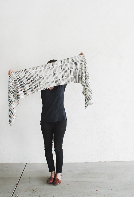 diy stamped scarf  |  almost makes perfect