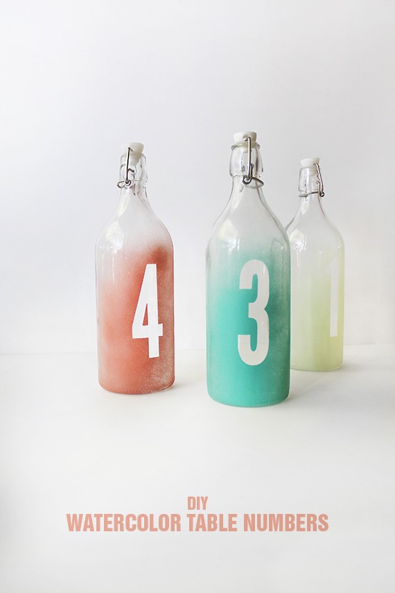 diy watercolor table numbers | almost makes perfect