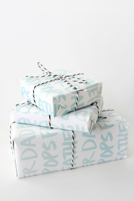 printable fathers day gift wrap