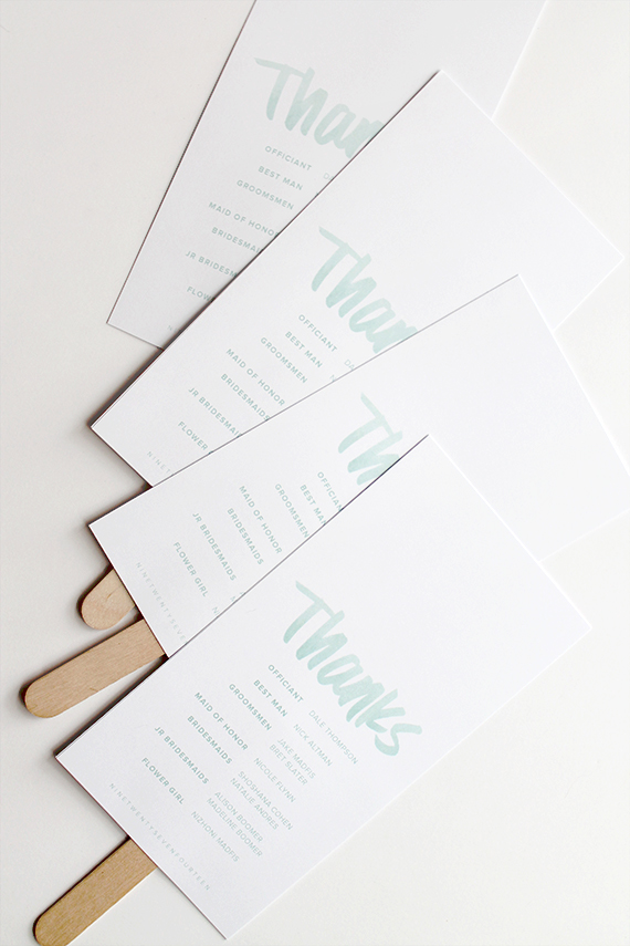 diy wedding program fans | almost makes perfect