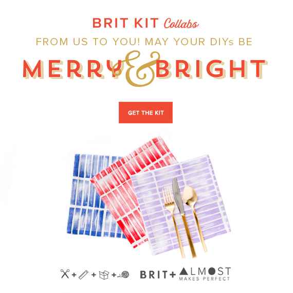 brit + co x almost makes perfect  | stamp kit