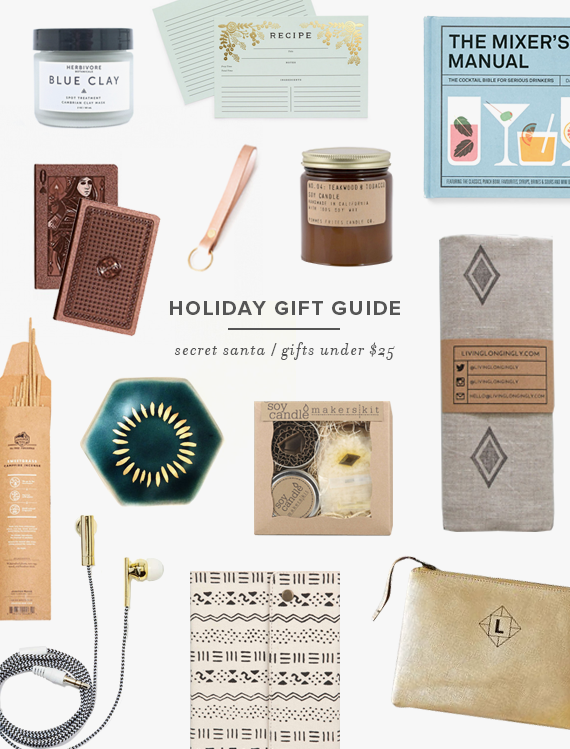 holiday gift guide | gifts under $25