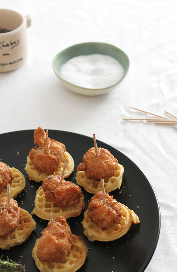 mini chicken + waffles | almost makes perfect