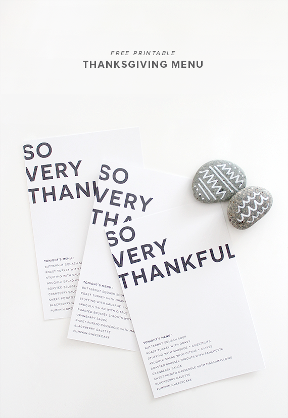 thanksgiving menu printable | almost makes perfect