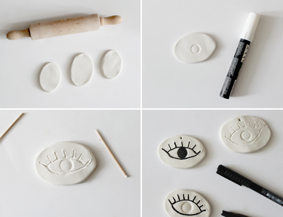 diy clay eye ornaments | almost makes perfect