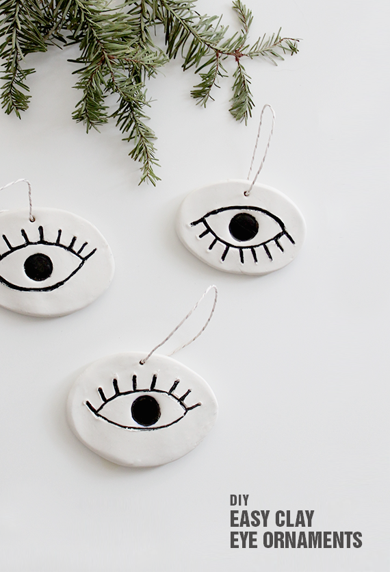 diy easy eye ornaments | almost makes perfect