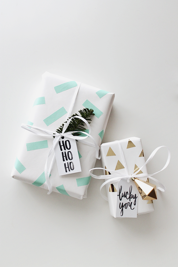 diy washi tape gift wrap | almost makes perfect