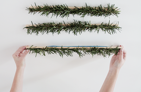 modern hanging christmas tree    almost makes perfect