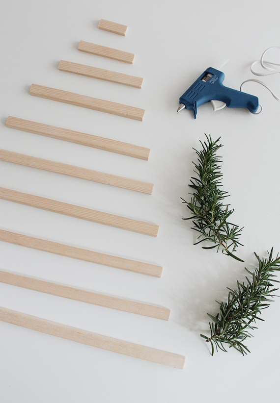 modern hanging christmas tree | almost makes perfect