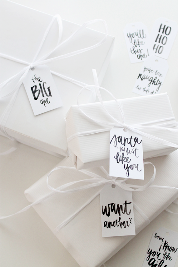 printable holiday gift tags  | almost makes perfect