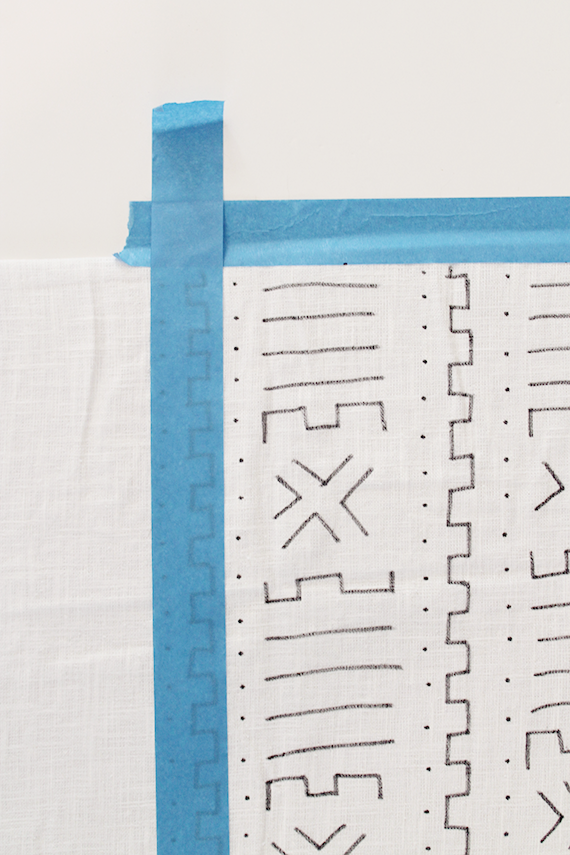 diy hand drawn mudcloth pillow   almost makes perfect
