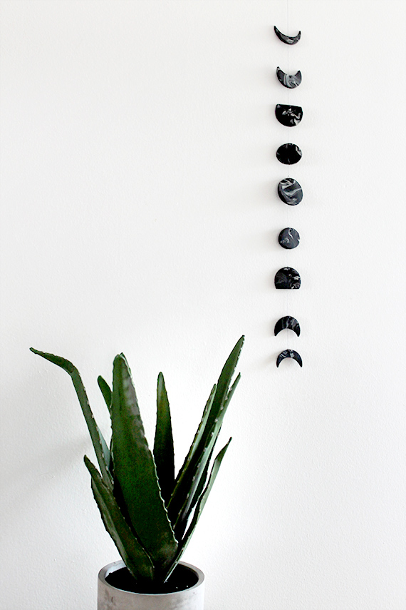 diy moon phase wall hanging | almost makes perfect